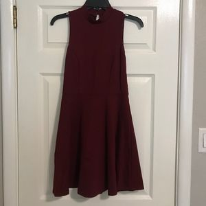 Monteau Maroon Dress (size small)